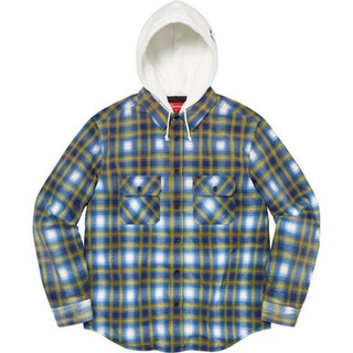 Supreme - 【新品】S / Hooded Flannel Zip Up Shirt