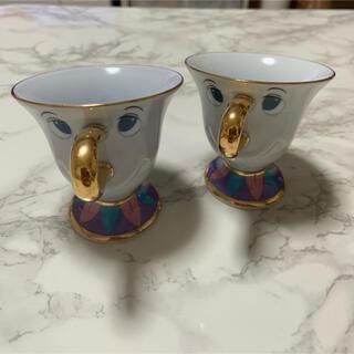ディズニー(Disney)のチップのティーカップ2個のセット ポット夫人 コップ(食器)
