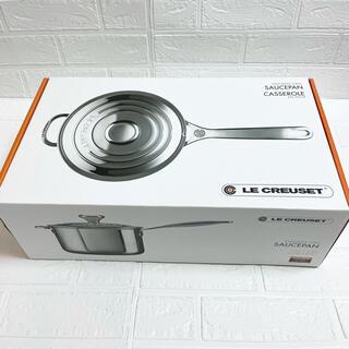 ルクルーゼ(LE CREUSET)のルクルーゼ ソースパン ステンレス 20cm 《新品未開封》片手鍋 鍋(鍋/フライパン)