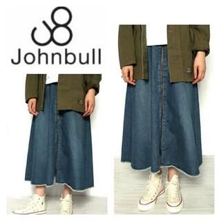 ジョンブル(JOHNBULL)のJohnbullジョンブル☆ Lサイズ  リメイクフレアスカート AK726(ひざ丈スカート)