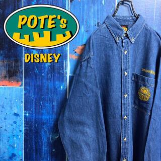ディズニー(Disney)の【ディズニー】ライオンキングポケットキャラ刺繍ロゴデニムシャツ(シャツ)
