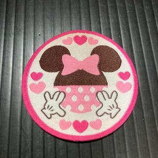 ディズニー(Disney)のミニーちゃんワッペン1個 5cm四方(各種パーツ)
