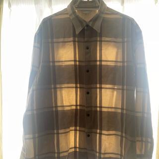 UNUSED - unused チェックオーバーシャツ