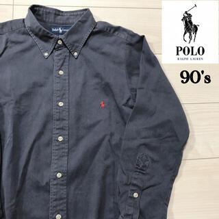 ポロラルフローレン(POLO RALPH LAUREN)の90s POLO RALPHLAUREN 長袖 ボタンダウン  チノシャツ XL(シャツ)