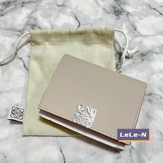 LOEWE<新品レシート>アナグラム6CCミニ財布 ♪ ライトゴースト