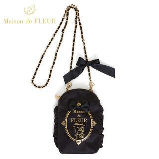 Maison de FLEUR - タグ付き♡Maison de FLEUR モバイルショルダーバッグ クロミ