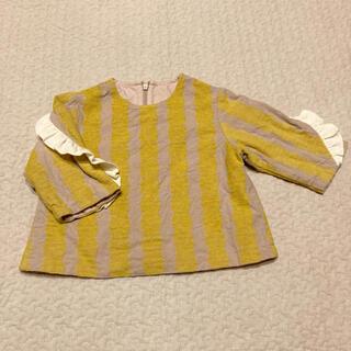 エフオーキッズ(F.O.KIDS)のapres les cours フリル付き七分袖トップス 90cm(Tシャツ/カットソー)