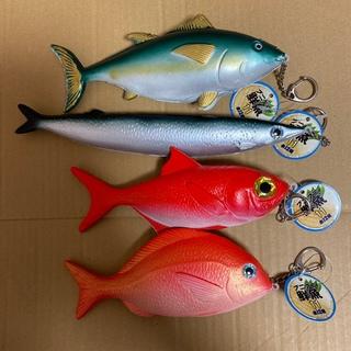 プニプニ鮮魚11 マスコット 真鯛&キンキ ストラップ キーホルダー(その他)