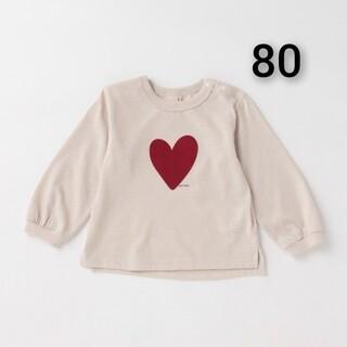 プティマイン(petit main)の新品 petit main 袖 リブ アソート長T80(シャツ/カットソー)