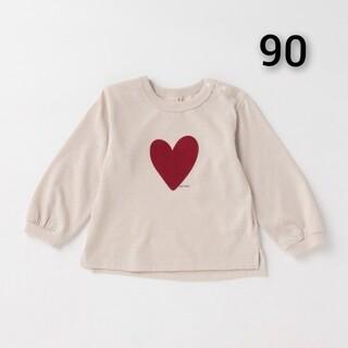 プティマイン(petit main)の新品 petit main 袖リブ アソート 長T90(Tシャツ/カットソー)