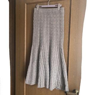美品 しまむら マーメイドニットスカート