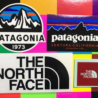 パタゴニア(patagonia)の★補強あり発送★新品未使用 ノースフェイス&パタゴニア ステッカー4枚セット 黒(その他)