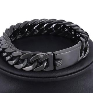 【SALE】ブレスレット メンズ ブラック 黒 チェーン 腕輪 お洒落