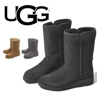 UGG - 新品未使用 UGG AMIE スリム ショートムートンブーツ 7.5 ブラック