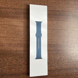 アップルウォッチ(Apple Watch)のapple watch 45mm用アビスブルースポーツバンド - レギュラー(ラバーベルト)