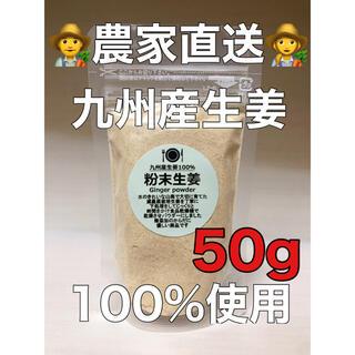 減農薬栽培 九州産生姜100%使用 粉末生姜50g