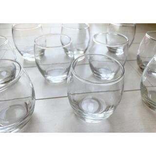 ダルマ型カップ ガラス食器 カフェ風 210cc 10個セット