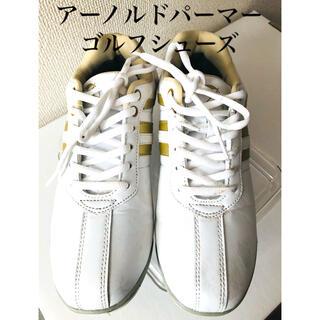 アーノルドパーマー(Arnold Palmer)のアーノルドパーマー レディース スパイクレス シューズ  ホワイト/ゴールド(シューズ)