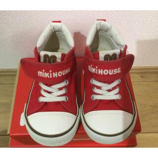 ミキハウス(mikihouse)のミキハウス ハイカットスニーカー 赤 16cm(スニーカー)