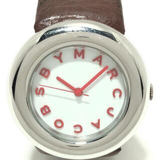 マークバイマークジェイコブス(MARC BY MARC JACOBS)のマークジェイコブス 腕時計 MBM1126 白(腕時計)