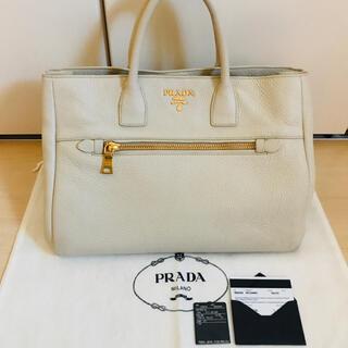 PRADA - PRADA プラダ トートバッグ ハンドバッグ BN2454 白