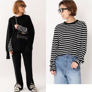 DEUXIEME CLASSE - 新品未試着 COCO Stripe Tシャツ No5  ブラック