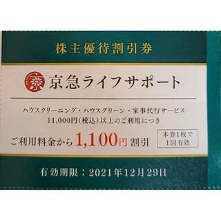 《匿名配送》【京急株主優待】京急ライフサポートご利用料金¥1100割引券(その他)