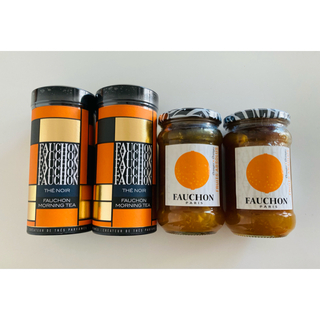 タカシマヤ(髙島屋)のFAUCHON(フォション)☆オレンジ&マーマレード ジャム 紅茶 計4点セット(缶詰/瓶詰)