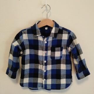 ムジルシリョウヒン(MUJI (無印良品))の無印良品 ベビー ネルシャツ サイズ90(ブラウス)