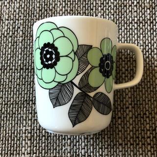 マリメッコ(marimekko)のレア! 廃番 完売 新品 マリメッコ ケスティト グリーン マグカップ(グラス/カップ)