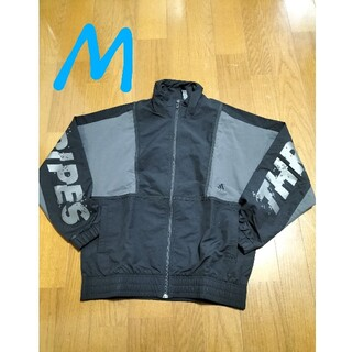 アディダス(adidas)のadidas サイズ M ウインドブレーカーナイロンジャケット黒M未使用(ナイロンジャケット)