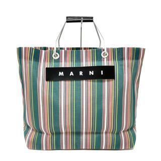 マルニ(Marni)のマルニ トートバッグ美品  ストライプ(トートバッグ)