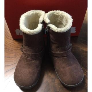 ミキハウス(mikihouse)のミキハウス ベルト付エンジニアブーツ 16cm ブラウン(ブーツ)