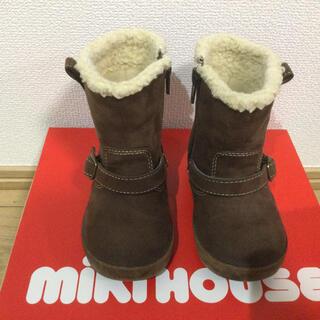 ミキハウス(mikihouse)のミキハウス ベルト付エンジニアブーツ ブラウン 14cm(ブーツ)