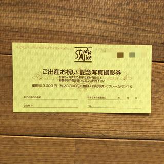 スタジオアリス記念写真撮影券(その他)