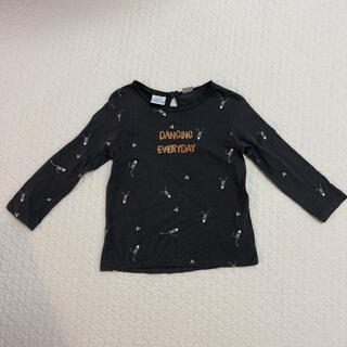 ザラキッズ(ZARA KIDS)のZARA BABY★バレエプリント柄カットソー グレー 104cm(Tシャツ/カットソー)