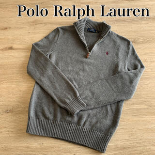 POLO RALPH LAUREN - ポロラルフローレン ニット セーター ハーフジップ ワンポイント 刺繍 古着