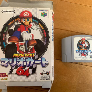 ニンテンドウ64(NINTENDO 64)のニンテンドー64 スーパーマリオカート64(家庭用ゲームソフト)