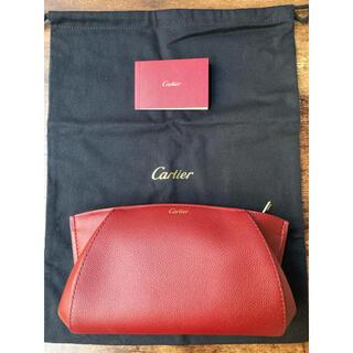 Cartier - Cドゥ カルティエ クラッチバッグ レザー ボルドー 赤 レッド