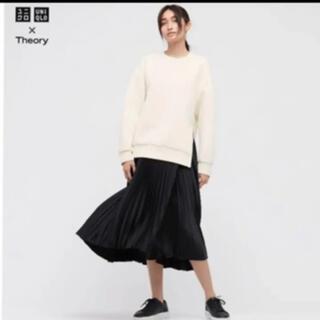 UNIQLO - UNIQLO×theory 新品未使用 プリーツラップスカート