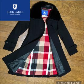 BURBERRY BLUE LABEL - ブルーレーベルクレストブリッジ  コート 38 黒 ウールコート M