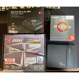 AMD CPU マザーボード CPUクーラー メモリー4点セット