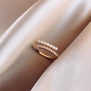 DEUXIEME CLASSE - pearl bijoux open ring