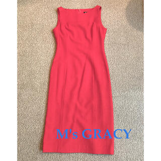 M'S GRACY - 美品 M's GRACY エムズグレイシー 赤 ワンピース