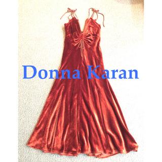 Donna Karan - 美品 Donna Karan ダナキャラン ベロア ベルベット ドレス ワンピ