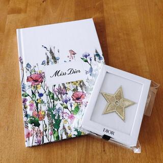 ディオール(Dior)のDior ノベルティ ノートとスターピンバッジ(ゴールド) (ノベルティグッズ)
