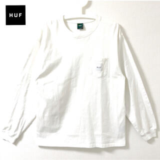 ハフ(HUF)のHUF ロンT 長袖 ポケット アイボリー L XL ハフ(Tシャツ/カットソー(七分/長袖))