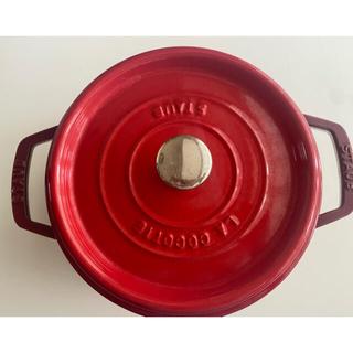 ストウブ(STAUB)のストウブ 22センチ チェリー(鍋/フライパン)