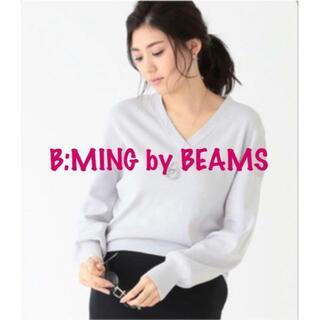 ビームス(BEAMS)のB:MING by BEAMSドルマンスリーブVネック ニットプルオーバー(ニット/セーター)