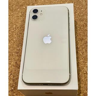 iPhone - iPhone 11 ホワイト 64 GB SIMフリー